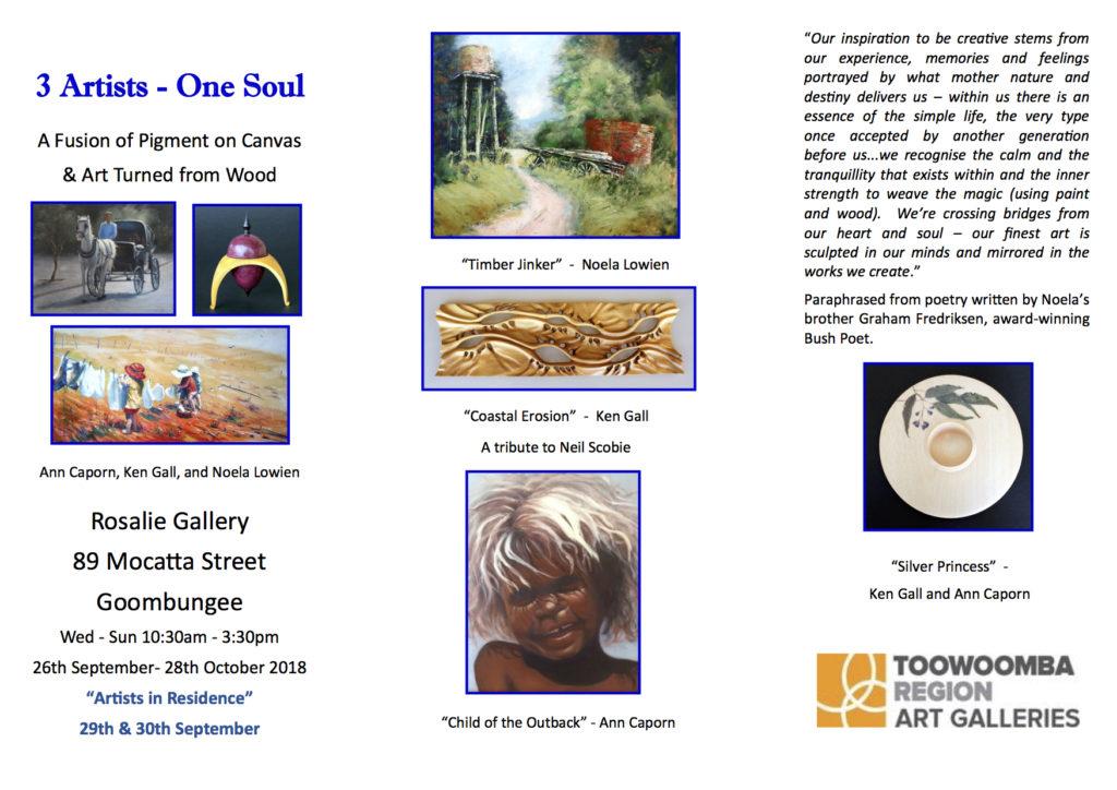 3 Artists – One Soul – Kilcoy Art Society